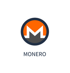 Monero cryptocurrency icon vector