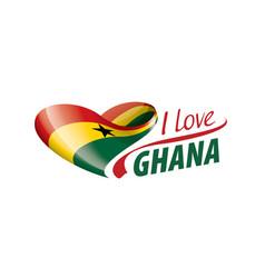 National flag ghana in shape a heart vector