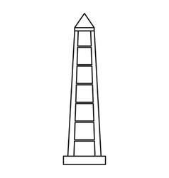 Obelisco of Buenos Aires icon outline style vector