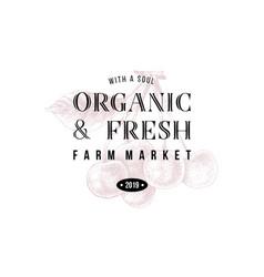 Organic and fresh farm market vector