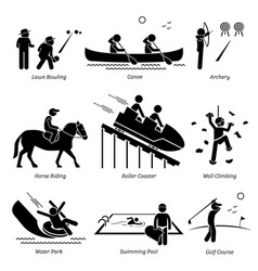 Outdoor club games and recreational activities vector