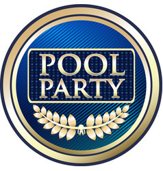 Pool party gold icon vector