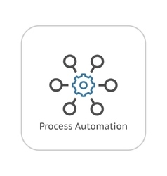 Process Automation Icon Business Concept Flat vector image
