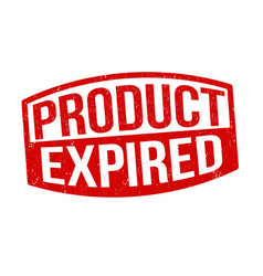 Product expired sign or stamp vector