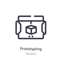Prototyping outline icon isolated line from vector
