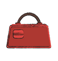 purse bag icon image vector image