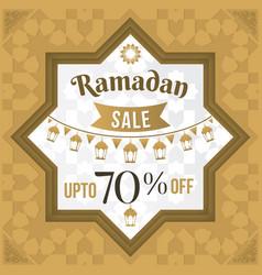 Ramadan sale poster or sale banner vector