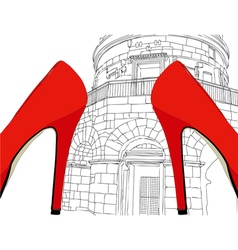 Ravenna city of fashion vector