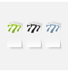 realistic design element three seven vector image