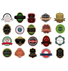 Retail banners badges and labels set vector
