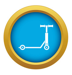 Scooter icon blue isolated vector