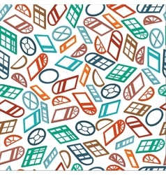 seamless pattern color isometric window vector image
