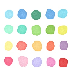 Set watercolor dos Colorful watercolor blobs Round vector image