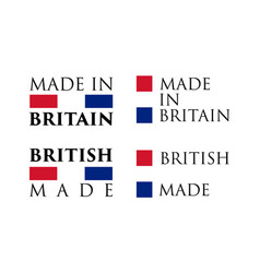 simple made in britain british label text with vector image