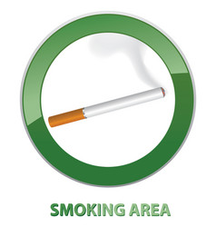Smoking area label area icon info sign vector