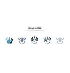 Spear shaped icon in different style two colored vector