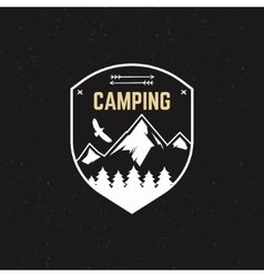 Stamp for outdoor camp Tourism hipster style vector