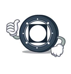Thumbs up byteball bytes coin character cartoon vector