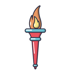 torch icon cartoon style vector image