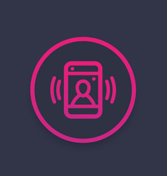 video call icon vector image
