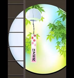 View to Japanese garden vector