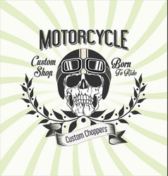 vintage motorcycle background 1 vector image