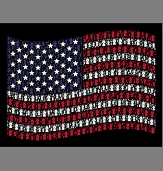 Waving american flag stylization of death vector