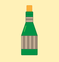 wine on the yellow background vector image