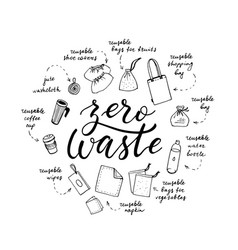 Zero waste shopping and living vector