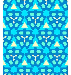 blue cyan yellow color abstract geometric seamless vector image vector image