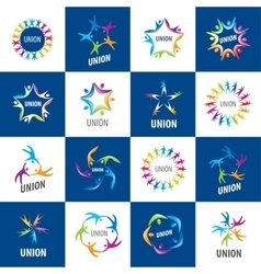 collection of signs alliances vector image