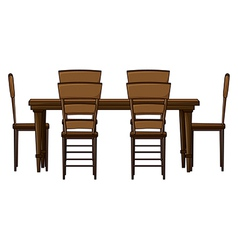 Dining room table vector image vector image