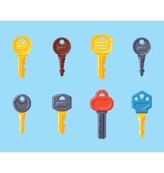 Door security key isolated icon vector