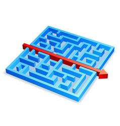 Maze concept vector image vector image
