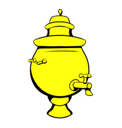 samovar icon cartoon vector image vector image