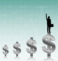 success of the businessman vector image