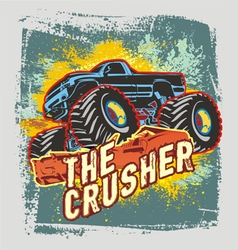 crusher monster truck vector image vector image