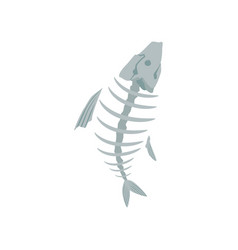 fish skeleton recycling garbage concept utilize vector image