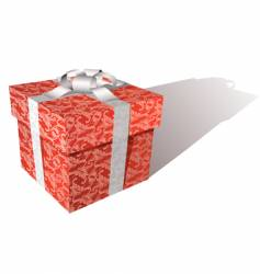 floral gift box vector image
