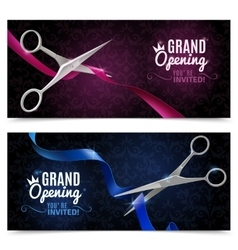 Grand Opening Banners Set vector image vector image