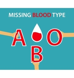 Missing Blood Type vector image