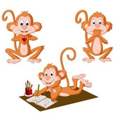 Three Monkeys vector image vector image