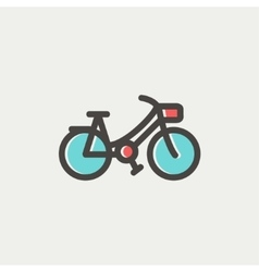 Vintage bicycle thin line icon vector image