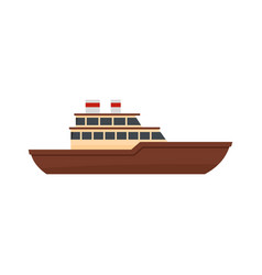yacht ocean icon flat style vector image