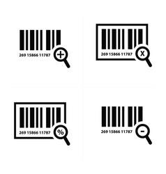 zoom barcode design vector image vector image