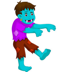cartoon zombie walking for you design vector image