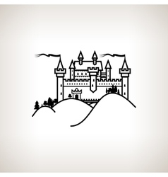 Castle hill on a light background vector