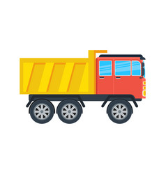 commercial tipper isolated icon vector image
