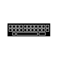 keyboard icon black sign on vector image