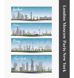 London Paris New York Moscow vector image